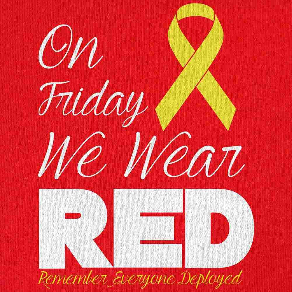 Women's RED Friday Yellow Ribbon T-Shirt - Small