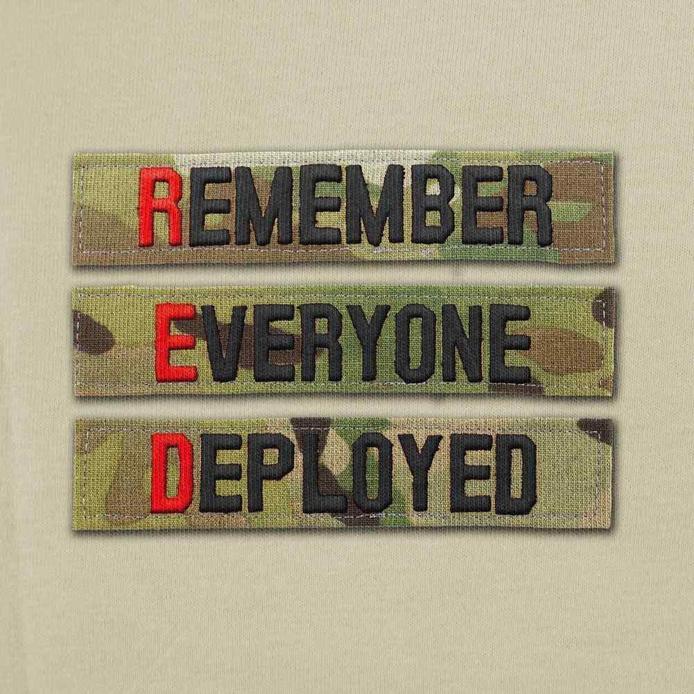 Remember Everyone Deployed Nametape T-Shirt - Heather Grey - Swatch