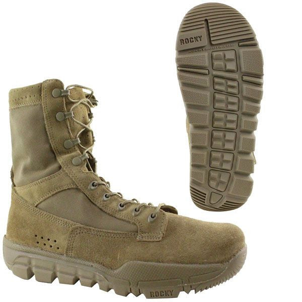 Rocky Lightweight Commercial Military Boot in Coyote Brown
