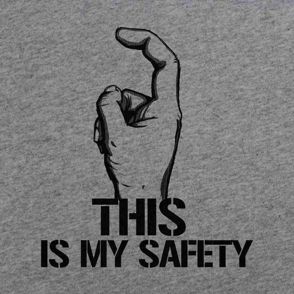 This is My Safety T-Shirt - Heather Grey - Swatch