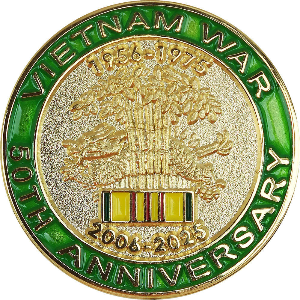 Vietnam War 50th Anniversary Commemorative Lapel Pin