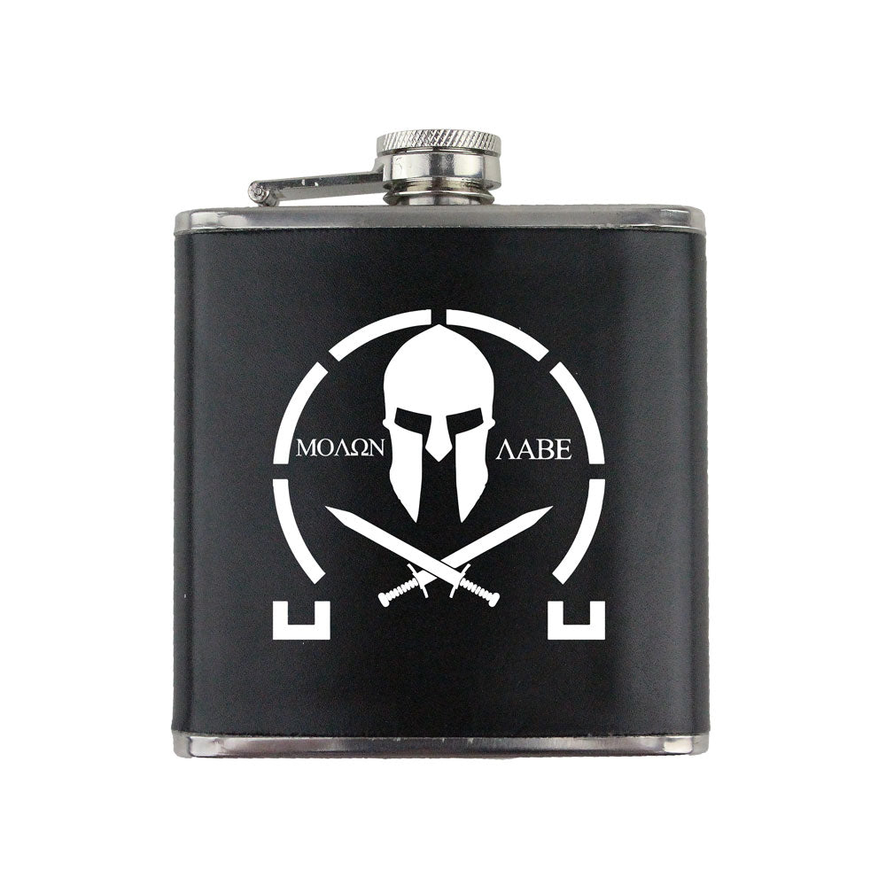 Molon Labe 6 oz. Flask with Wrap