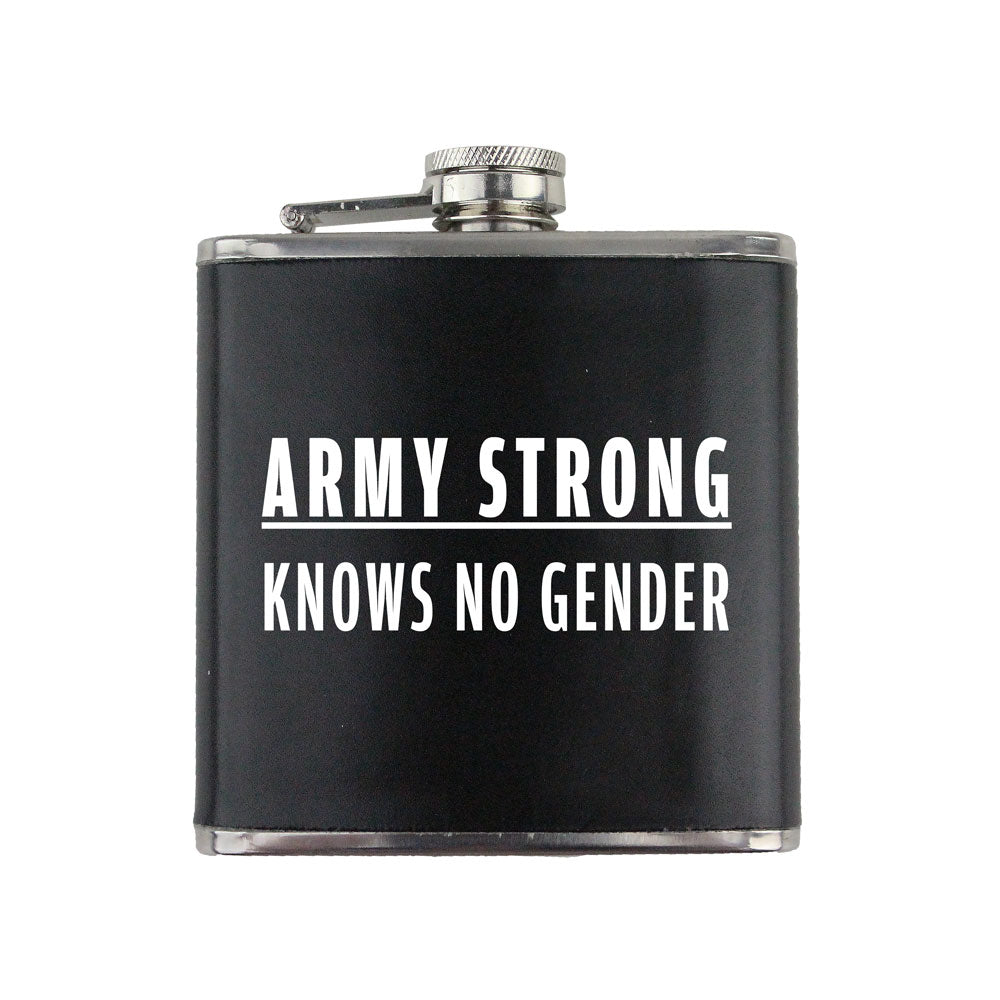 Army Strong Knows No Gender Text 6 oz. Flask with Wrap