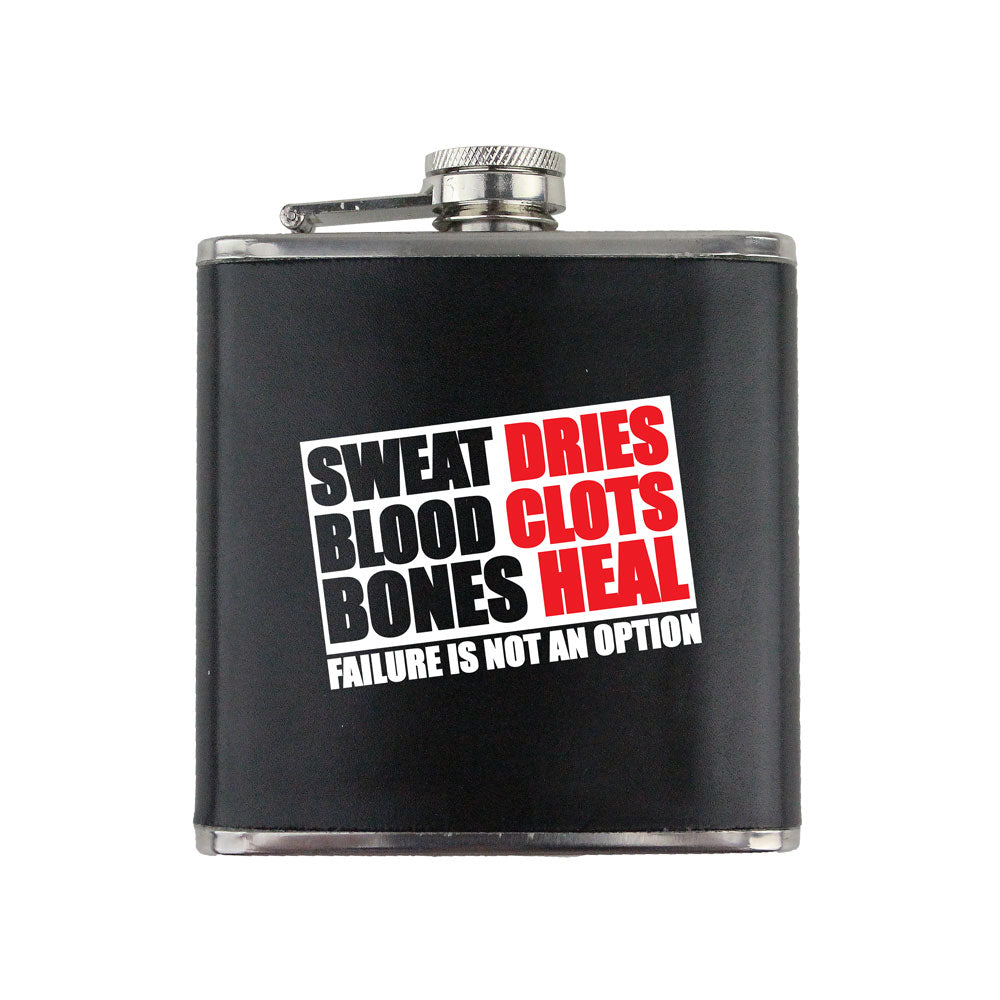 Sweat Blood and Bones 6 oz. Flask with Wrap