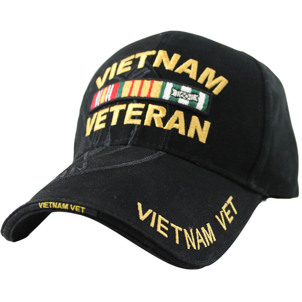 Vietnam Veteran Ribbon Rack Deluxe Black Low-Profile Cap
