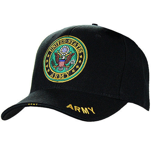 U.S. Army Emblem Logo Deluxe Black Low-Profile Cap