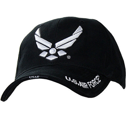 New Wing Air Force Black Deluxe Low-Profile Cap