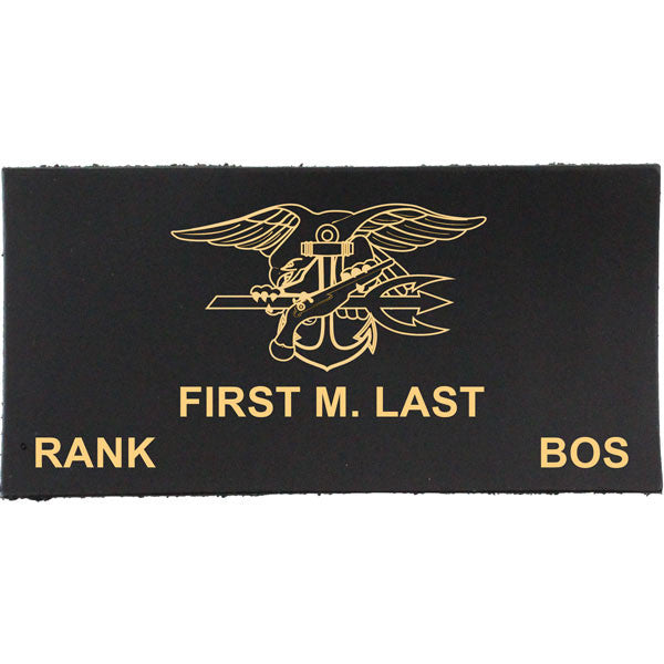 Navy Uniform Leather Nametag - Officer/CPO (E7 and above)