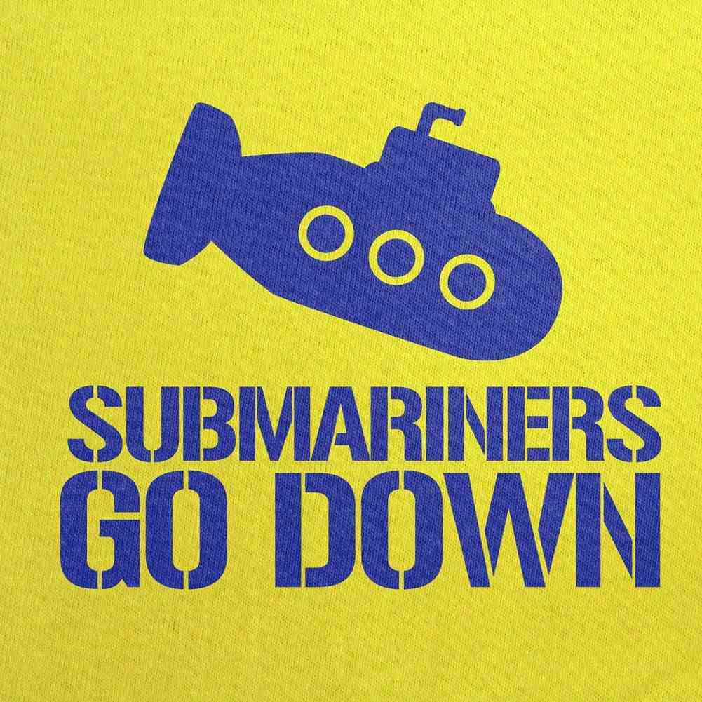 Submariners Go Down T-Shirt - Yellow - Small