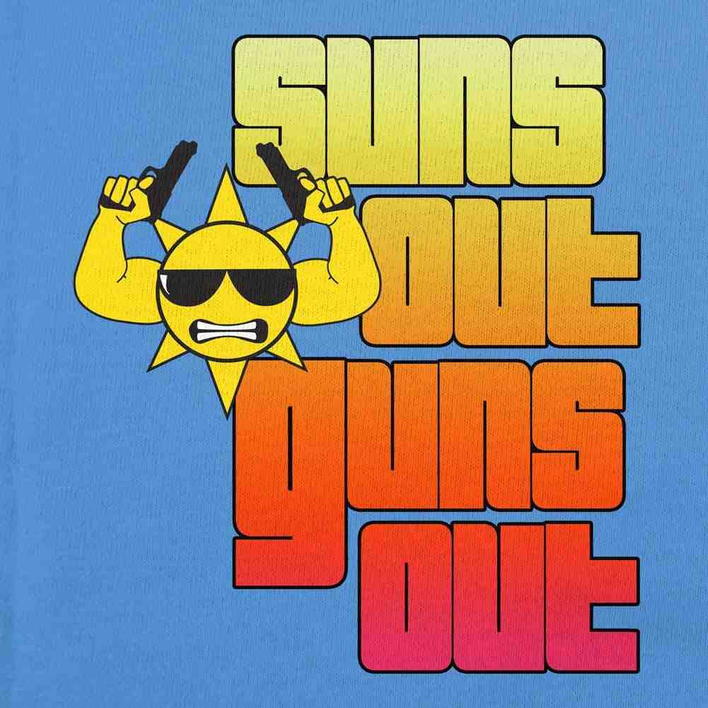 Suns Out Guns Out Tank Top - Blue - Small