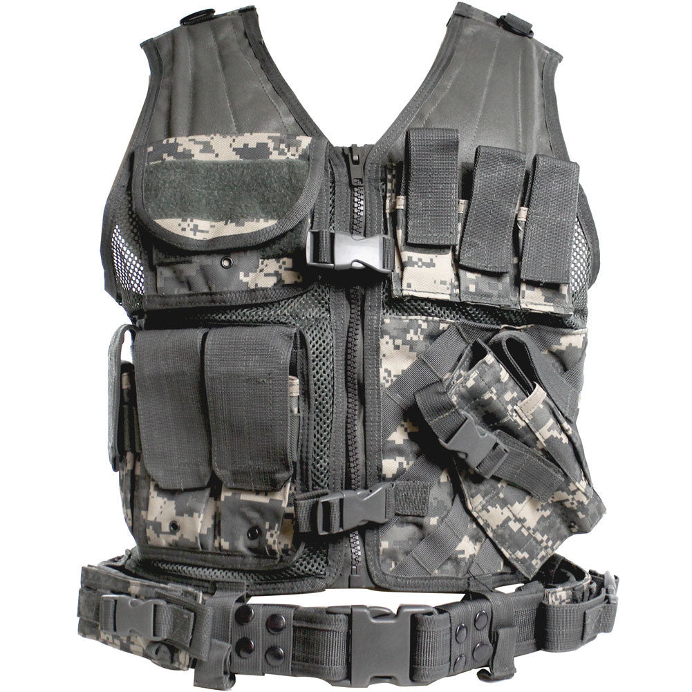 ACU Cross Draw Tactical Vest Front