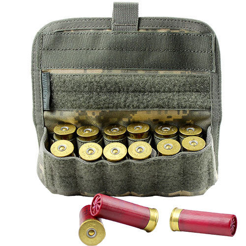 tactical shotgun 12 round ammo pouch acu army
