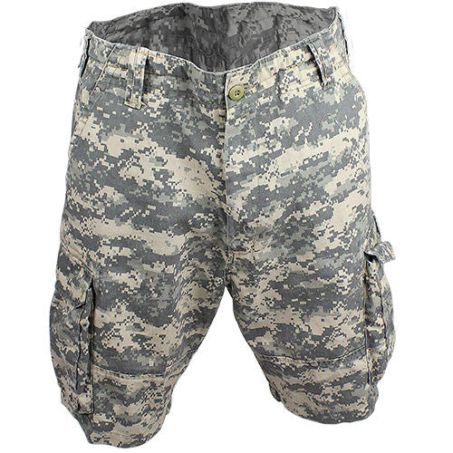 Ultra Force™ Vintage ACU Digital Camouflage Cargo Shorts - Size 3X-Large