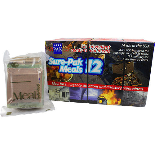 Sure Pak MRE (Meal-Ready-to-Eat) Case - 12-Pack