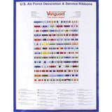 Air Force Decoration & Service Ribbon Poster