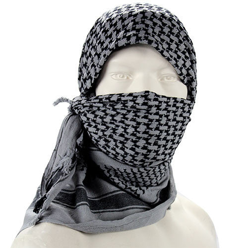 Shemagh Head Wrap - Gray