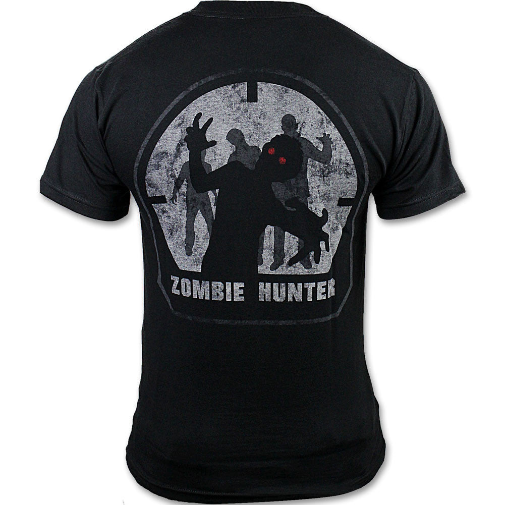 Mil-Spec Monkey Zombie Hunter Black T-Shirt-Small