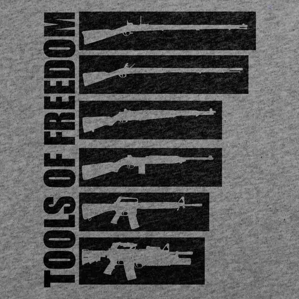 Tools of Freedom T-Shirt - Heather Grey - Small