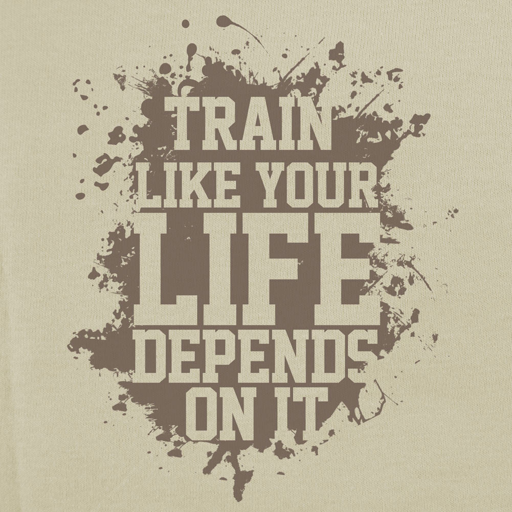 Train Like Your Life T-Shirt - Sm - Sand Brown