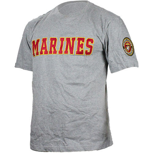 U.S. Marine Corps Applique Text T-Shirt - Size Medium