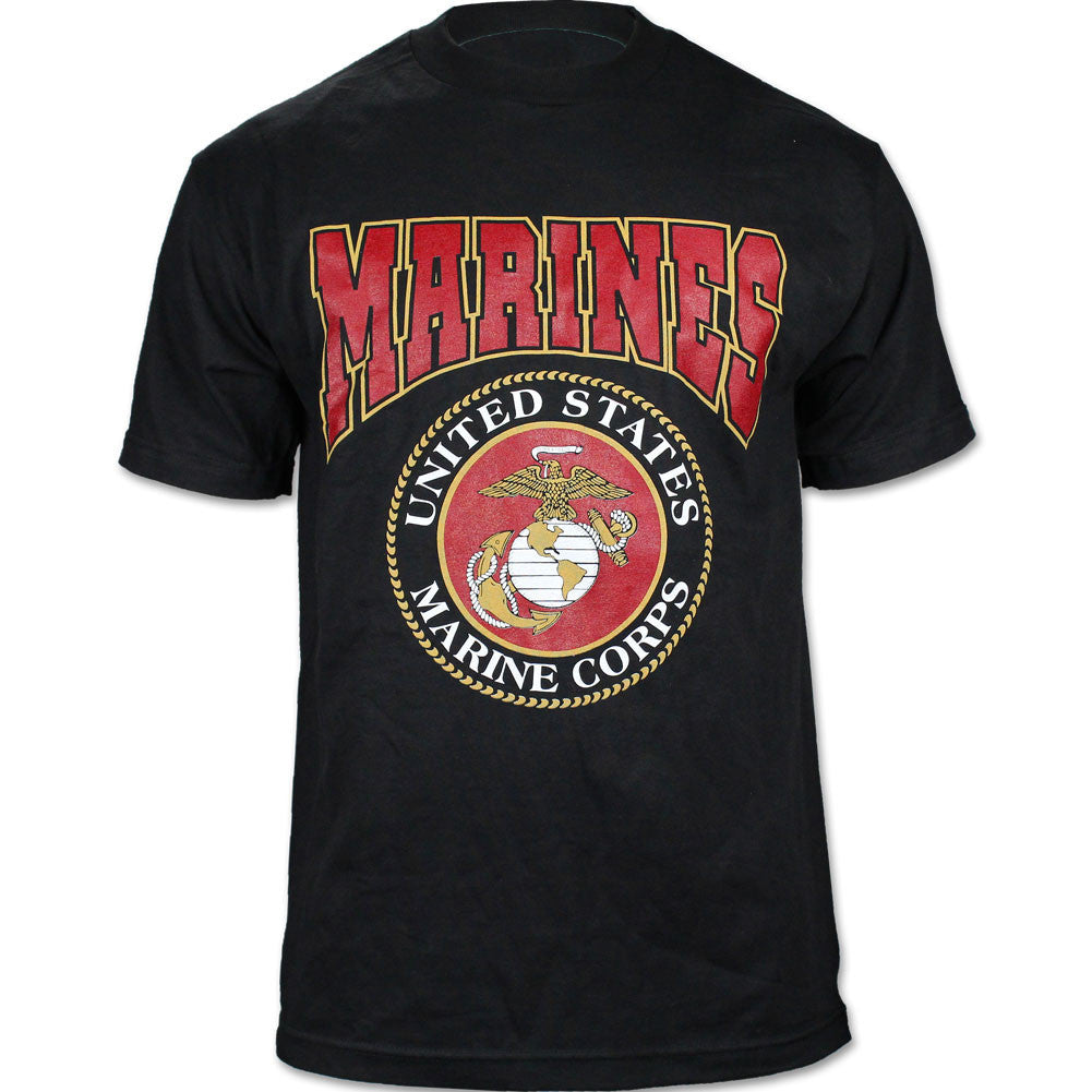 U.S. Marine Corps Seal Black T-Shirt - Size Medium