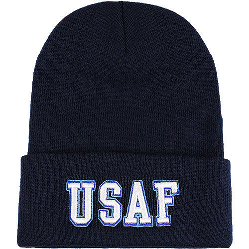 U.S. Air Force USAF Text Beanie