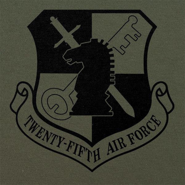 25th Air Force Subdued Patch T-Shirt