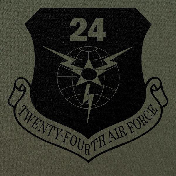 24th Air Force Subdued Patch T-Shirt