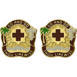 328th Combat Support Hospital Unit Crest (Go And Do Thou Likewise)