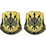 356th Quartermaster Battalion USAR Unit Crest (Support To Serve)