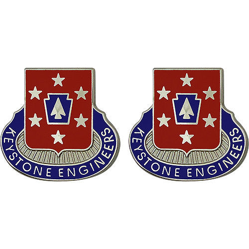 337th Engineer Battalion Unit Crest (Keystone Engineers)