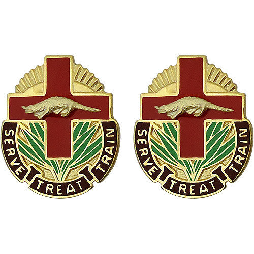 345th Combat Support Unit Crest (Serve Treat Train)