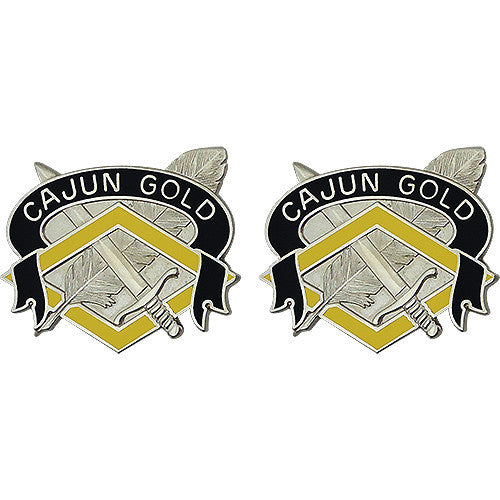 336th Finance Center Unit Crest (Cajun Gold)