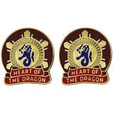 330th Transportation Center Unit Crest (Heart Of The Dragon)