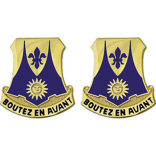 356th Regiment Advanced Individual Training USAR Unit Crest (Boutez En Avant)