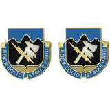 Special Troops Battalion, 2nd Infantry Division Unit Crest (Rock Solid Strike Hard)