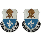 Special Troops Battalion, 82nd Airborne Division Unit Crest (Courage Commitment)