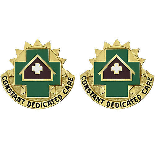 MEDDAC Fort Leavenworth Unit Crest (Constant Dedicated Care)