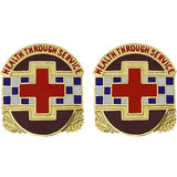 MEDDAC Fort Hunter-Stewart Unit Crest (Health Through Service)