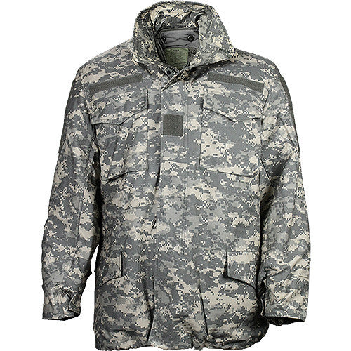 U.S. Army ACU M-65 Field Jacket with Liner - Size   Medium / Long