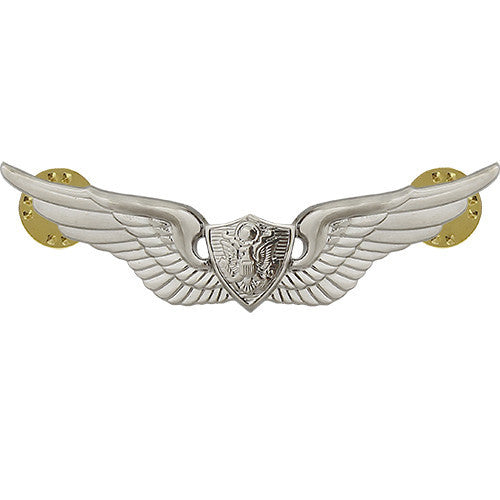 Army Basic Aviation (Aircraft Crewman) Badge - Nickel Finish