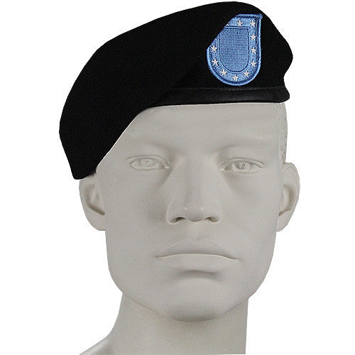 U.S. Army -Inspection-Ready- Black Beret with Flash - Size 7 3/4