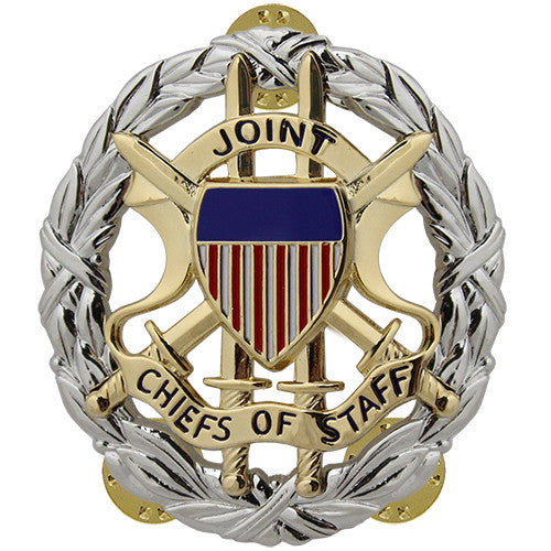 Army Joint Chiefs of Staff Identification Badge - Nickel Finish