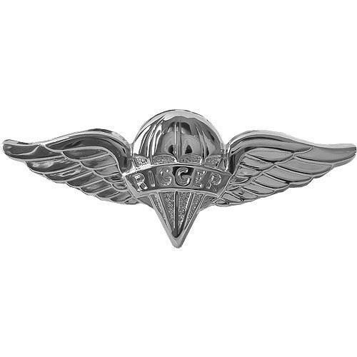 Parachute Rigger Badge - Nickel Finish