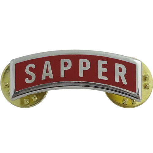 Army Sapper Tab - Dress Metal