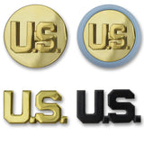 Army U.S. Letters Branch Insignia - Officer and Enlisted