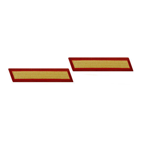 U.S. Marine Corps Gold on Red Service 1-Stripe (Female Size) - Pair