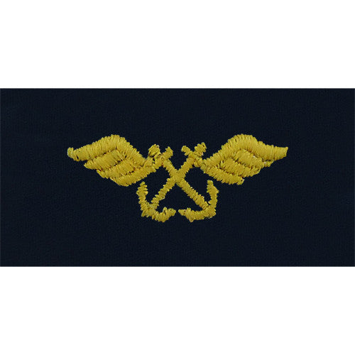 Navy Aviation Boatswain Embroidered Coverall Collar Device
