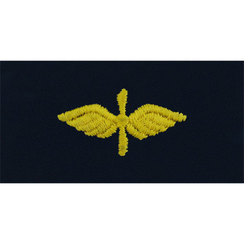Navy Aviation Maintenance Technician Embroidered Coverall Collar Device