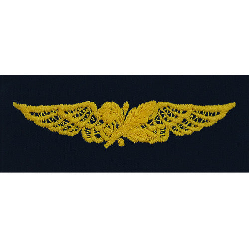 Navy Aviation Supply Corps Embroidered Coverall Breast Insignia